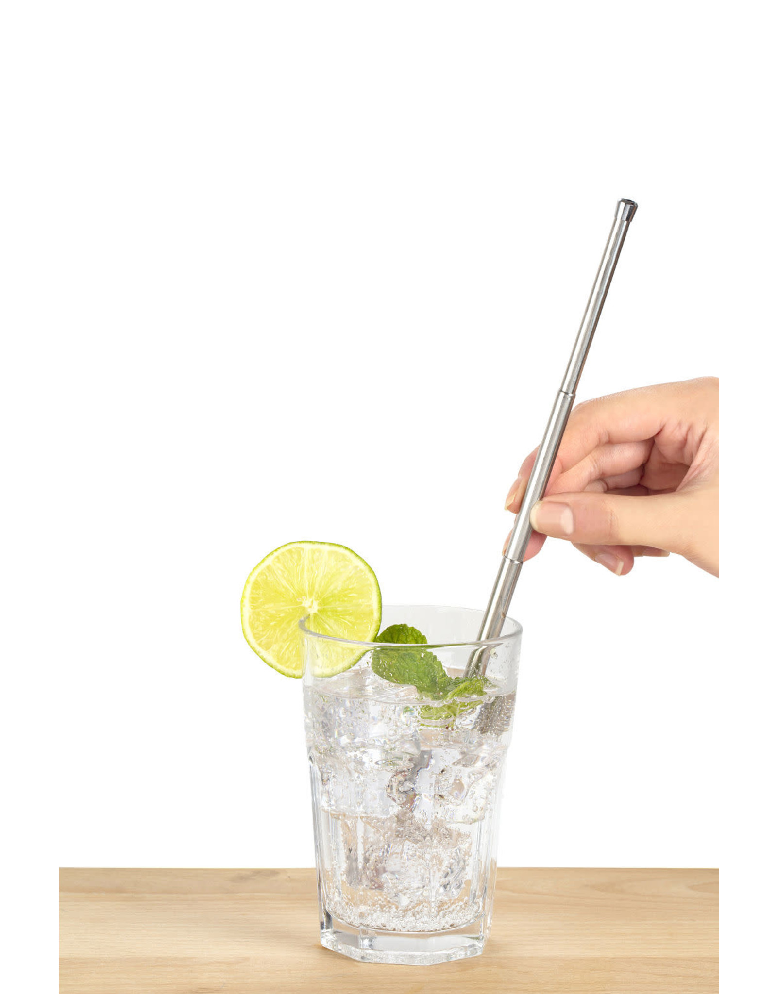 reusable straw - travel (silver)