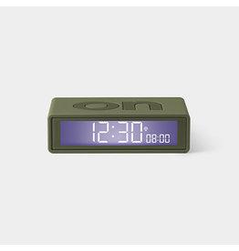 Lexon alarm clock - flip (kakhi)