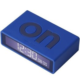 Lexon wekker - flip travel (blauw)