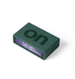 Lexon alarm clock - flip travel (dark green)