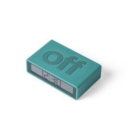 Lexon alarm clock - flip travel (blue green)