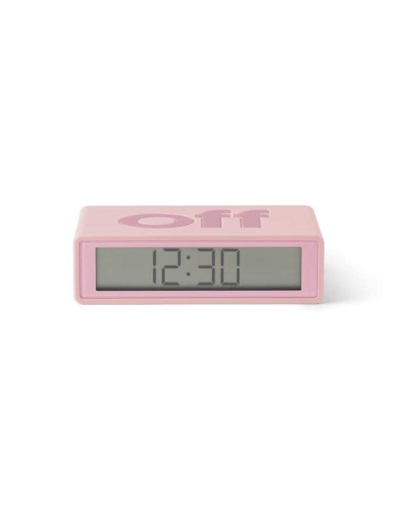 Lexon alarm clock - flip travel (pink)