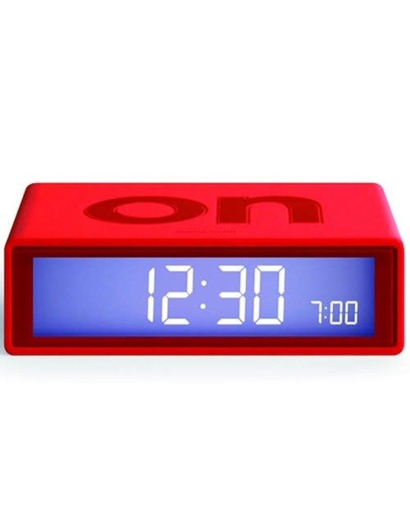 Lexon alarm clock - flip travel (red)