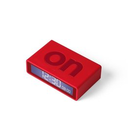 Lexon alarm clock - flip travel (red)