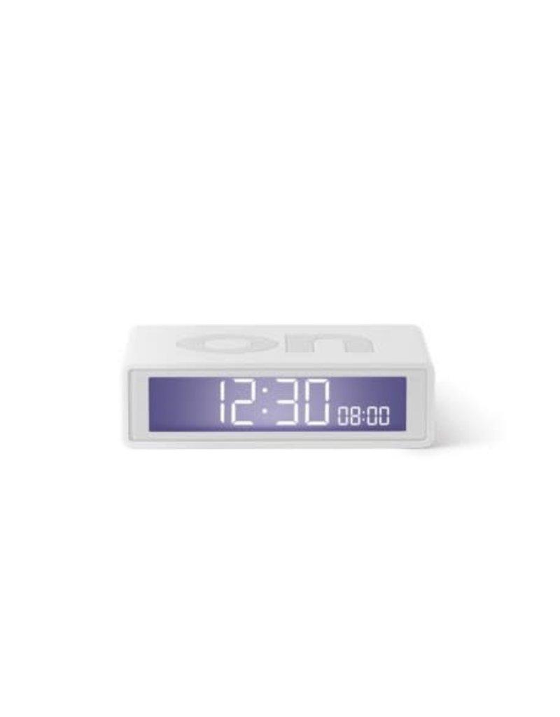 Lexon alarm clock - flip travel (white)