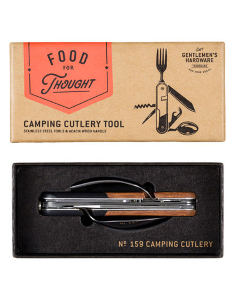 Wild & Wolf camping cutlery tool (wood)