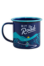 Wild & Wolf emaille beker - hit the road