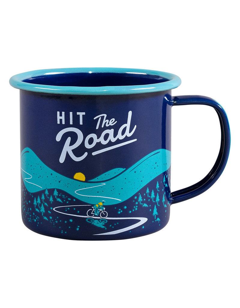 Wild & Wolf enamel mug - hit the road