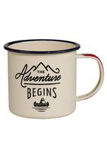 Wild & Wolf enamel mug - the adventure begins