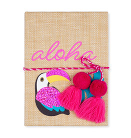 Tri Coastal notebook A5 - aloha (raffia)