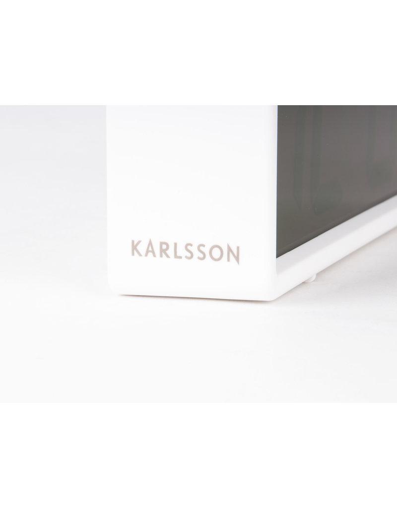 Karlsson wekker - coy (wit)