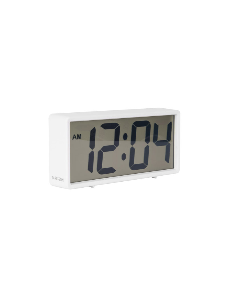 Karlsson alarm clock - coy (white) (3)