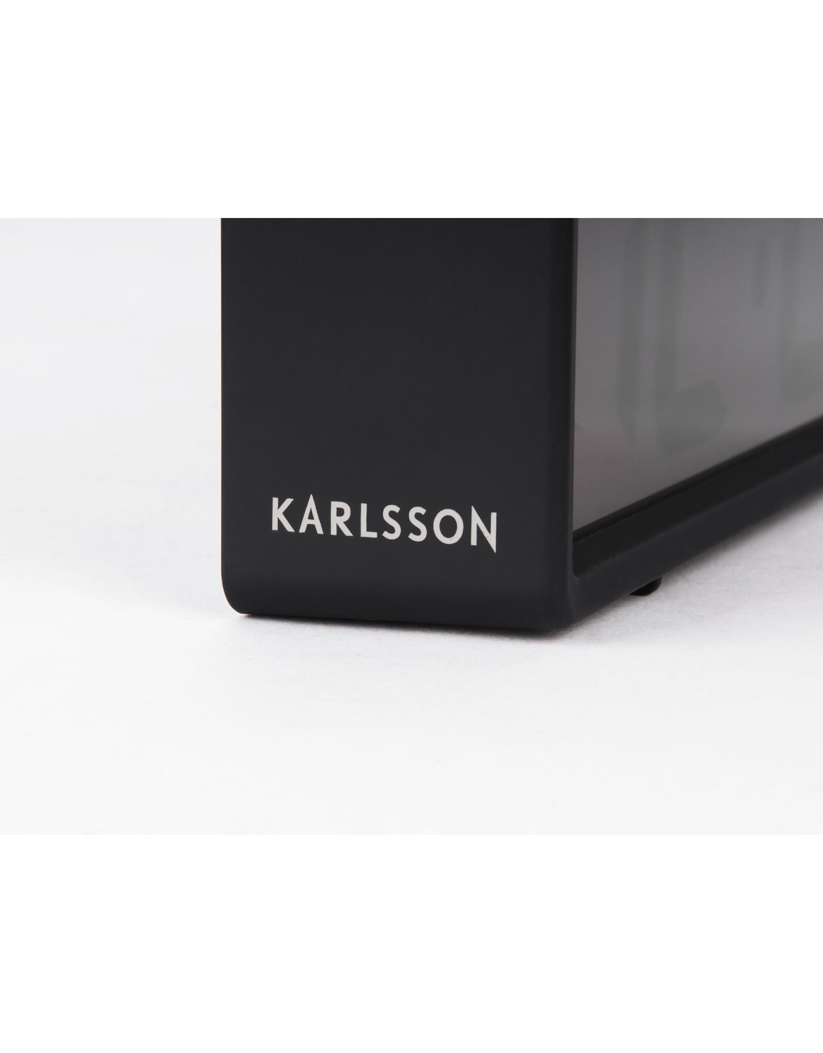 Karlsson alarm clock - coy (black)