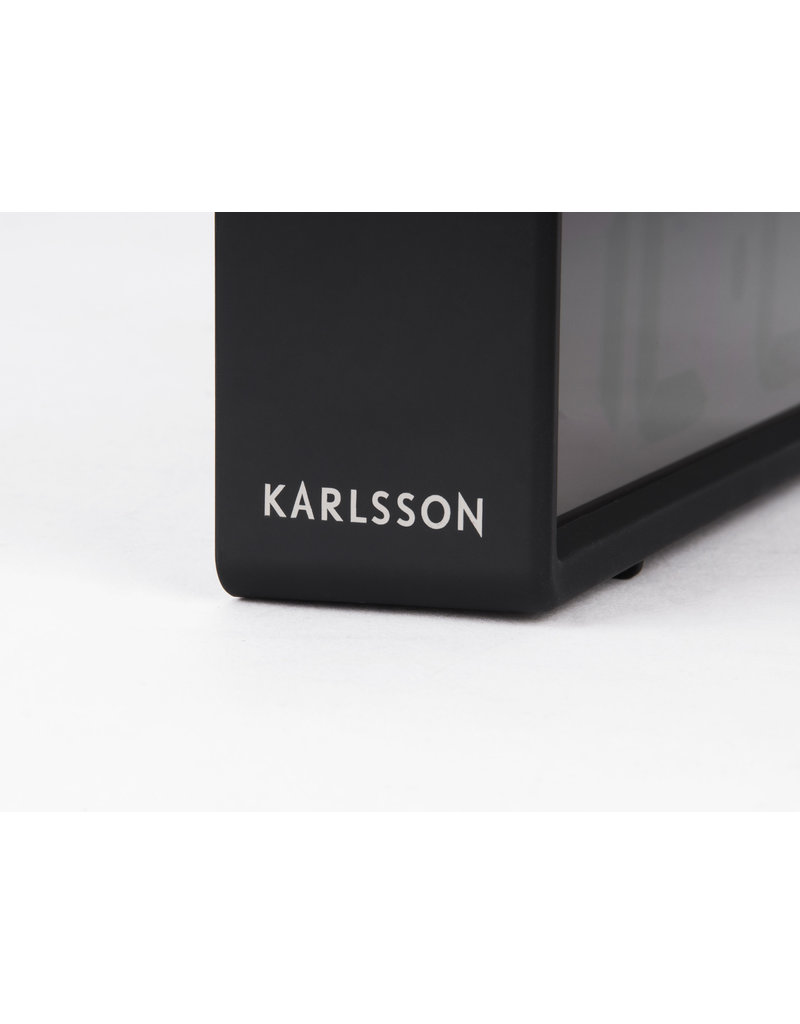 Karlsson wekker - coy (zwart)