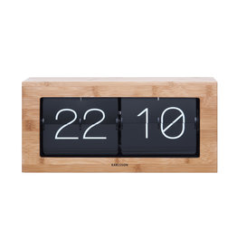 Karlsson clock - flip (wood)