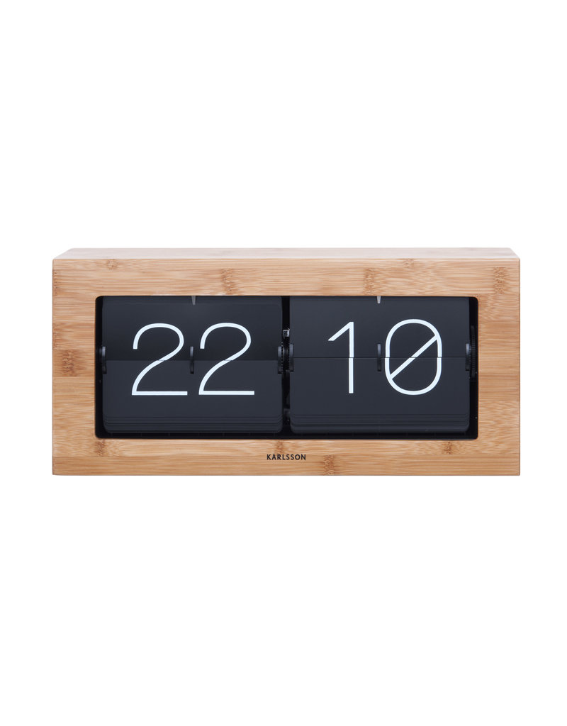 Karlsson clock - flip (wood)