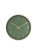 Karlsson wall clock - elegance (green)
