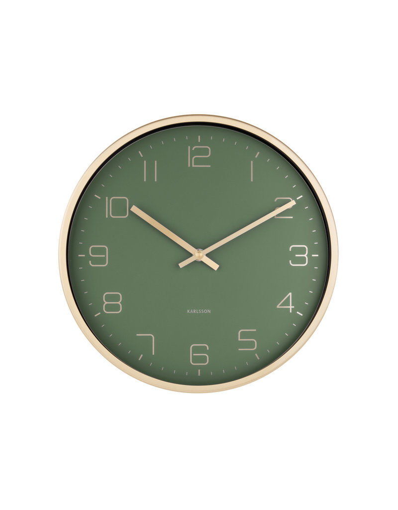 Karlsson wandklok - elegance (groen)