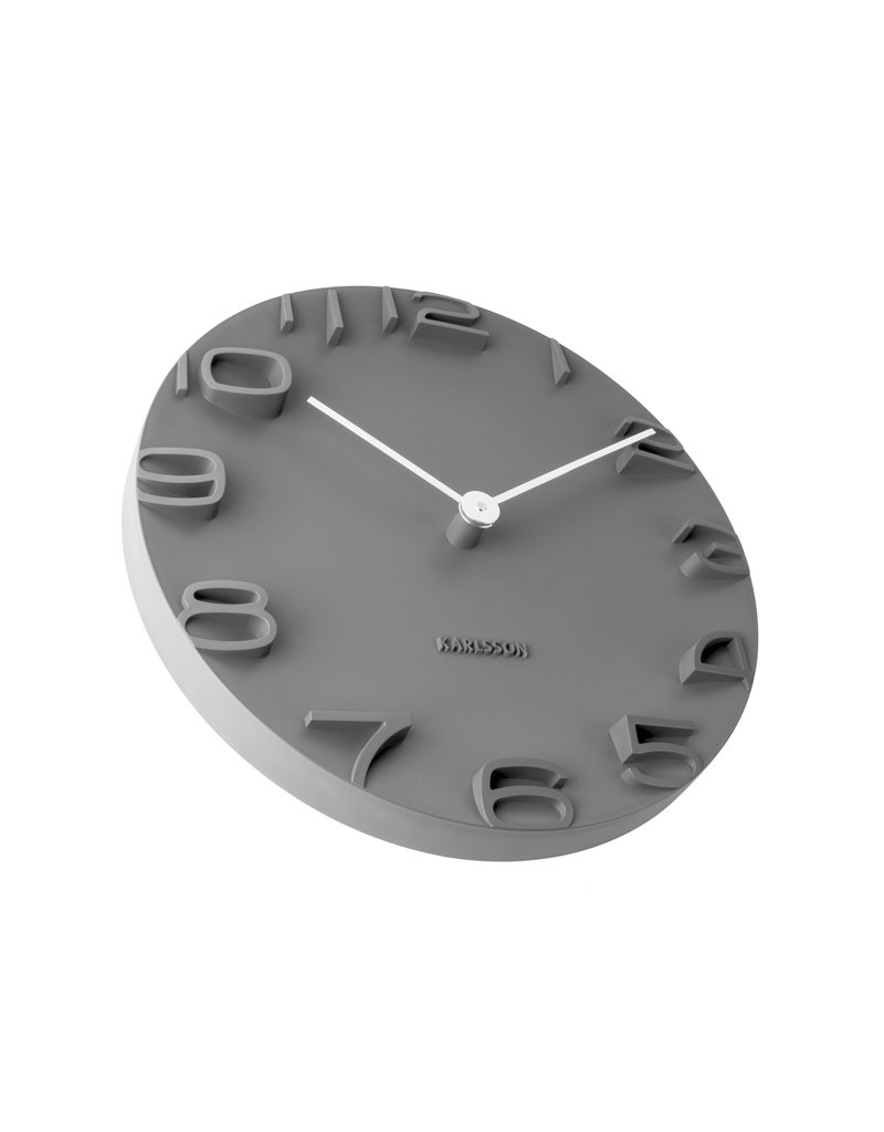 Karlsson wall clock - on the edge (black)