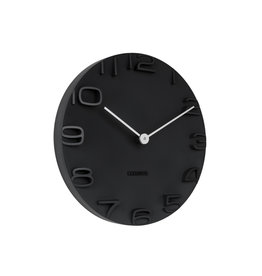 Karlsson wall clock - on the edge (black)