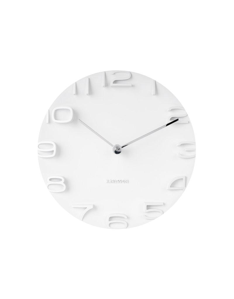 Karlsson wall clock - on the edge (white)