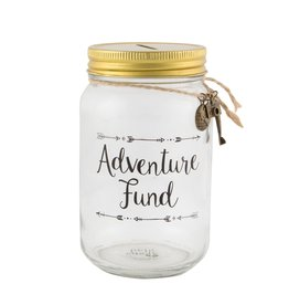 Sass & Belle moneybox - adventure fund (jar)