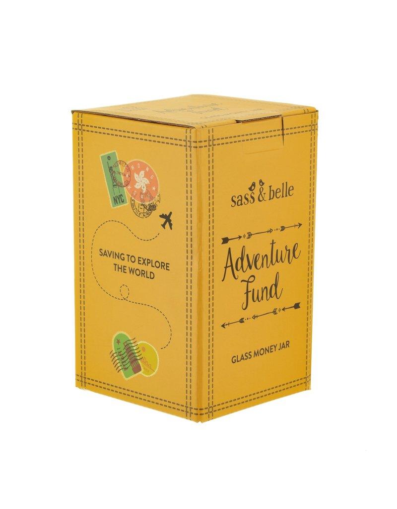 Sass & Belle moneybox - adventure fund (jar)