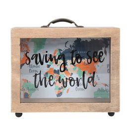 Jones Home & Gift moneybox - saving to see the world
