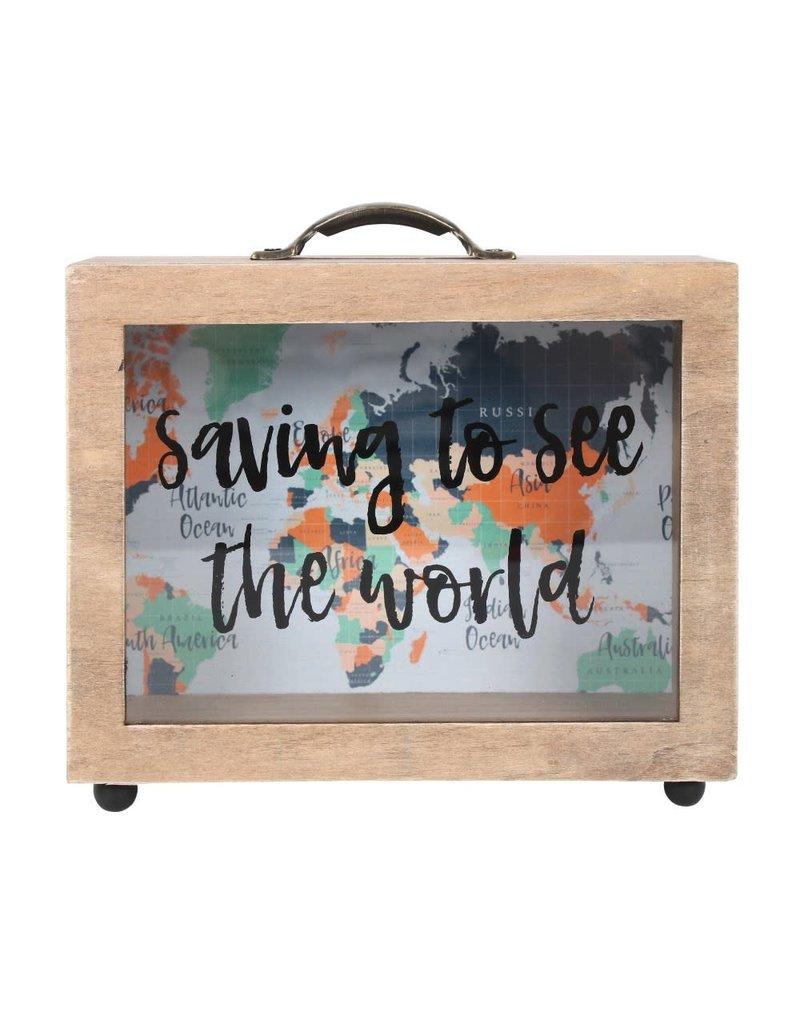 Jones Home & Gift moneybox - saving to see the world