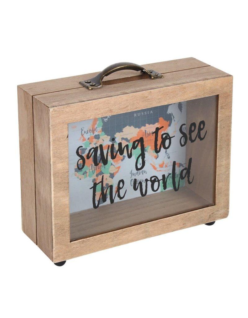 Jones Home & Gift spaarpot - saving to see the world