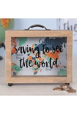 Jones Home & Gift spaarpot - saving to see the world