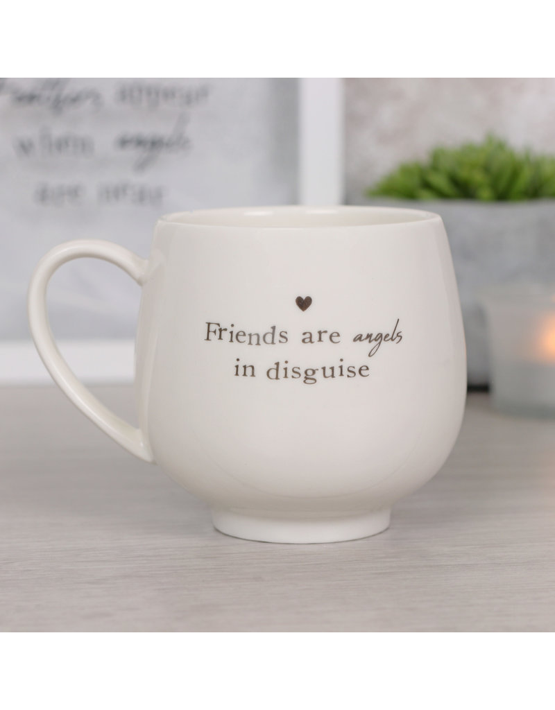 Jones Home & Gift mok - friends are angels in disguise