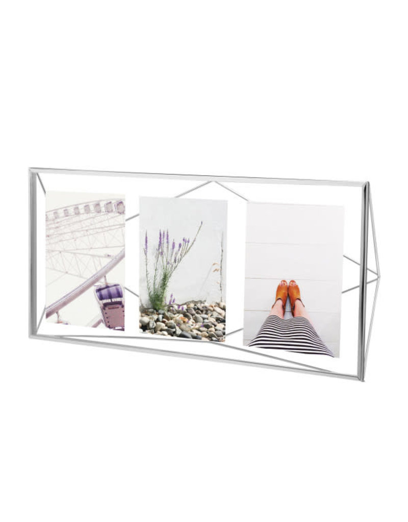 Umbra multi photo frame - prisma (chrome)