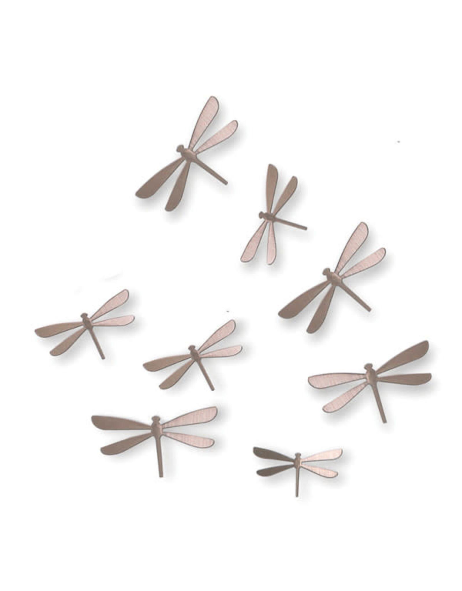 Umbra muurdeco - libelle (nikkel)