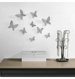 Umbra muurdeco - vlinders (grijs)