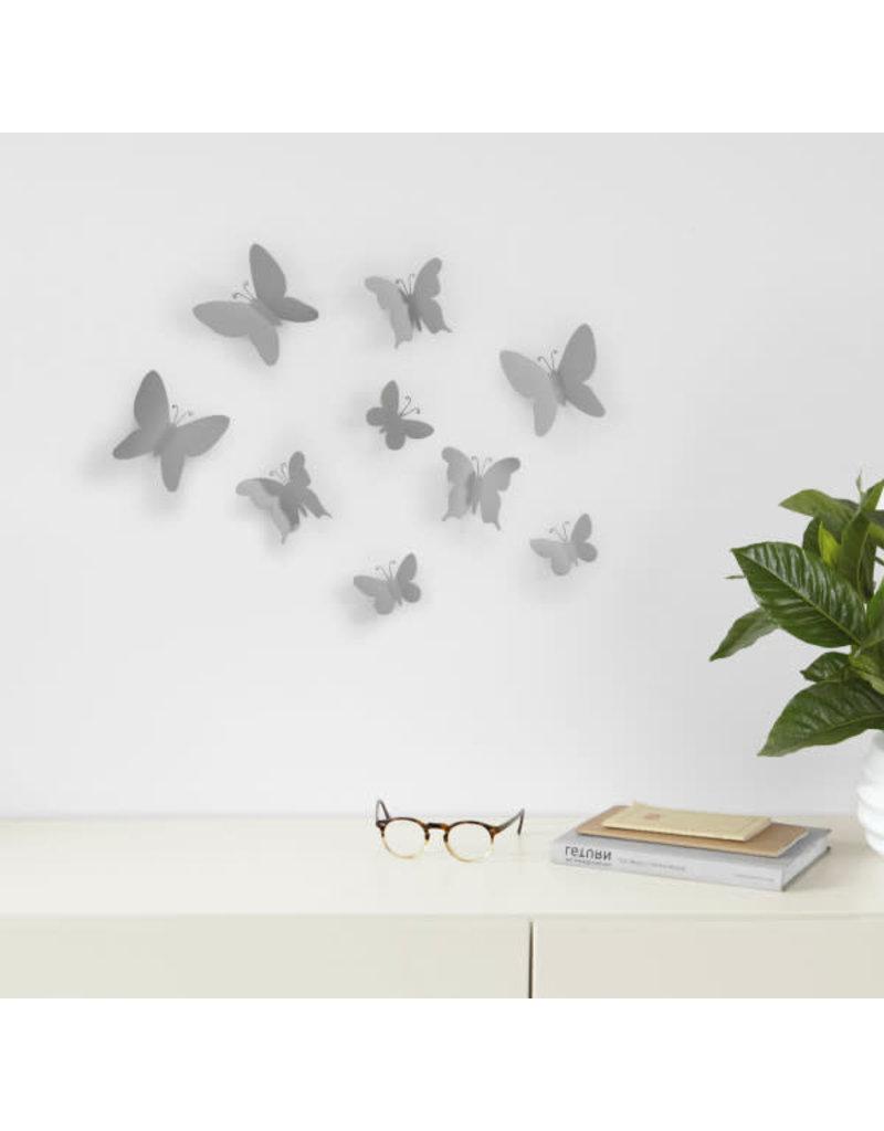 Umbra muurdeco - mariposa (grijs)