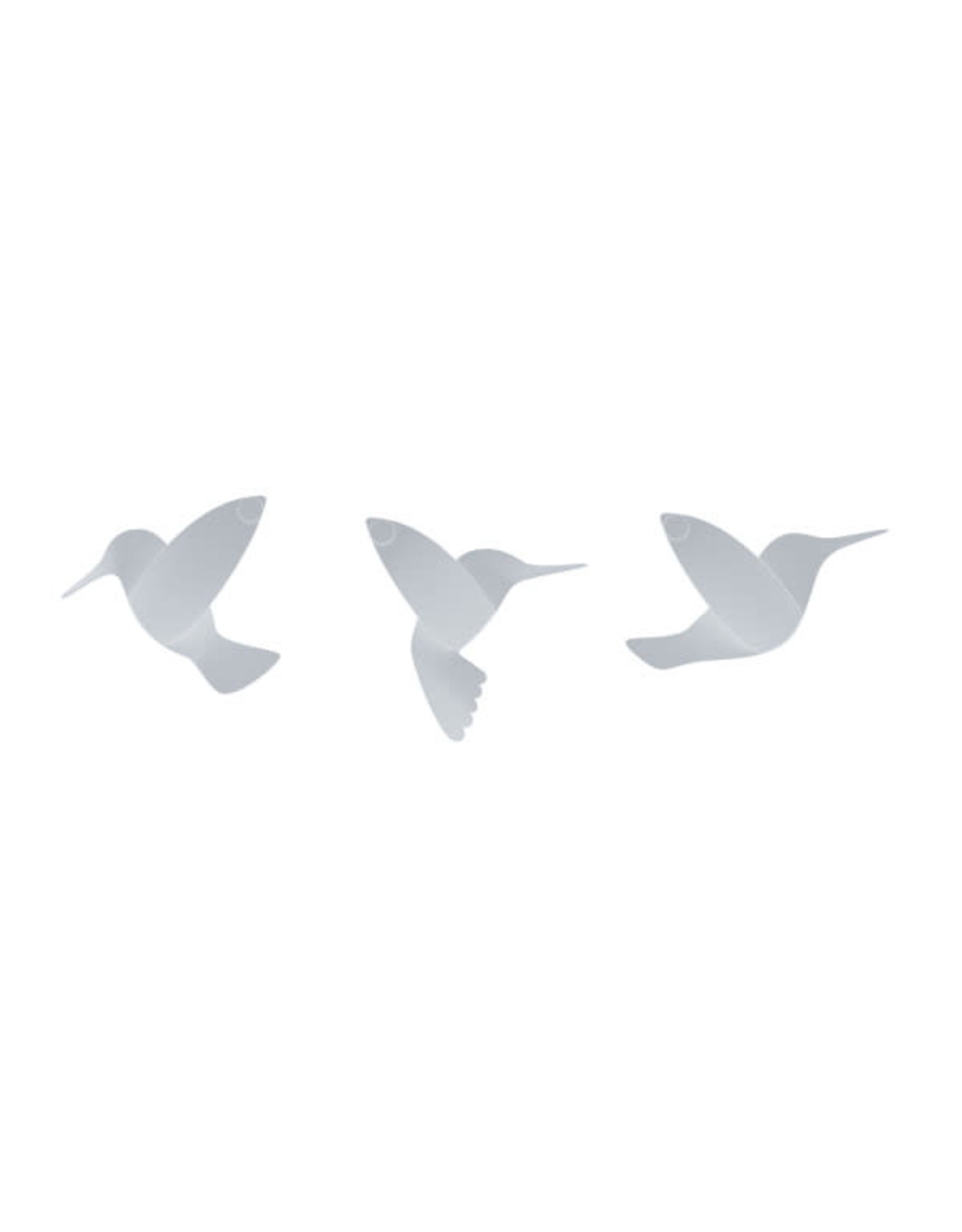 Umbra muurdeco - kolibrie (wit)