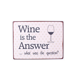 La Finesse sign - wine is the answer. What was the question?