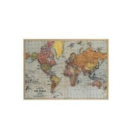 Cavallini decoratieve poster - wereldkaart