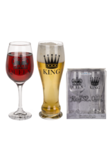 Out Of The Blue drinking glasses - king & queen