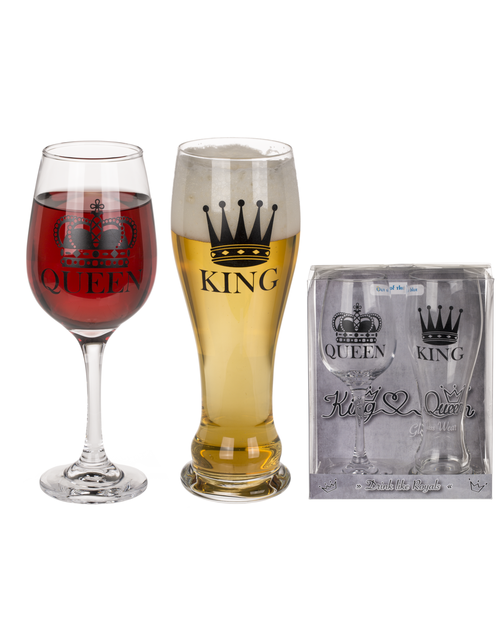 drinking glasses - king & queen