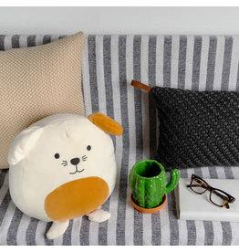 pillow - dog (white)