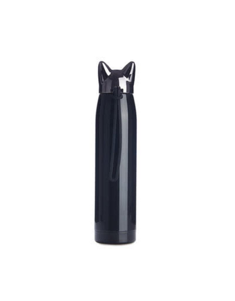 Balvi thermosfles - kat (zwart)