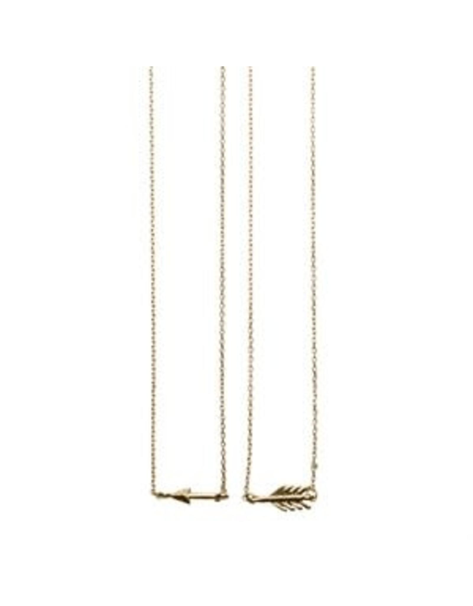 Timi kettingen - gebroken pijl (goud)