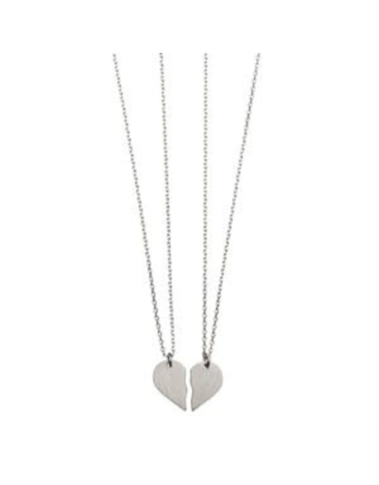 Timi necklaces - broken heart (silver)