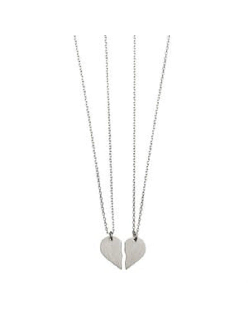 Timi kettingen - gebroken hart (zilver)