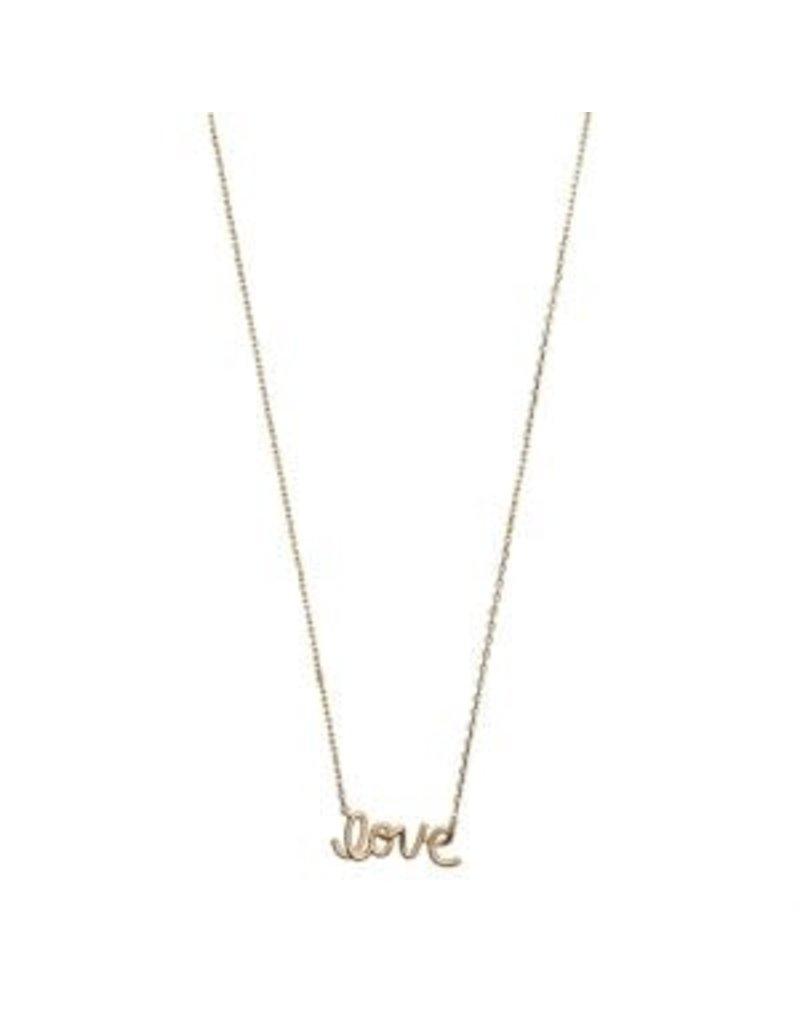 Timi necklace - love script (gold)