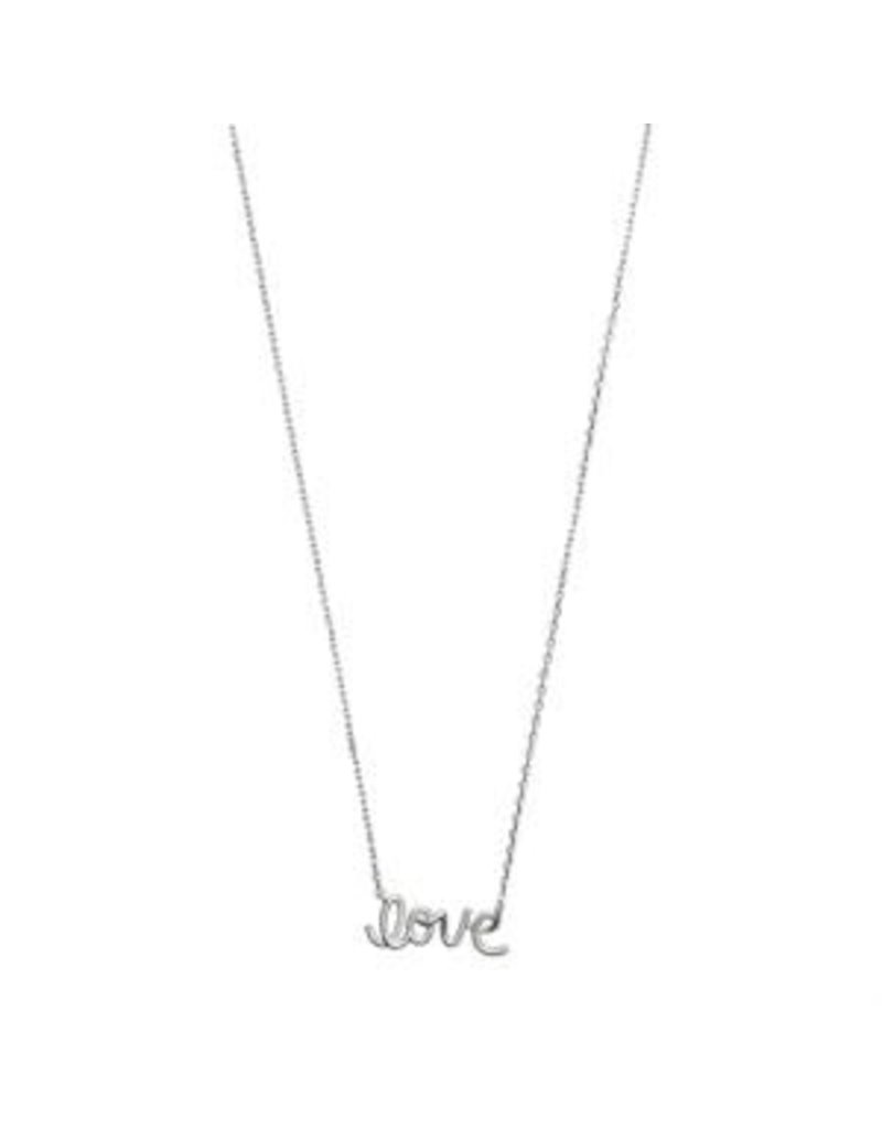 Timi necklace - love script (silver)
