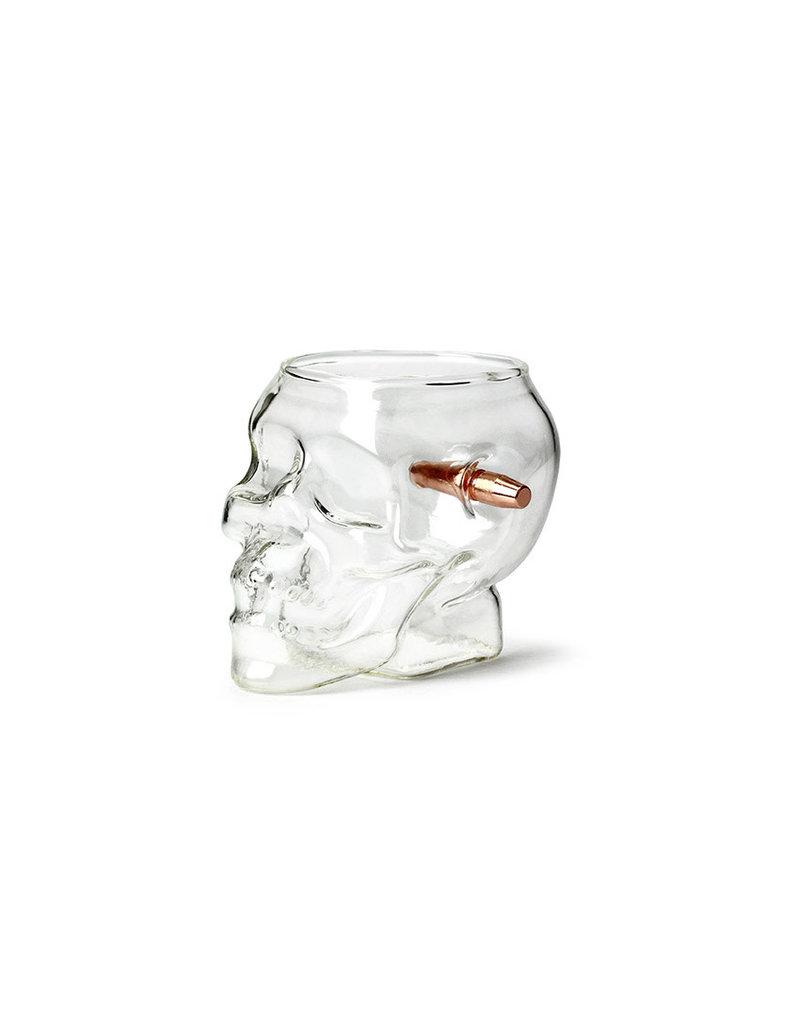 Barbuzzo drinking glass - last man standing skull