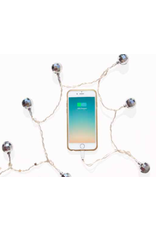 DCI LED phone charger - disco ball